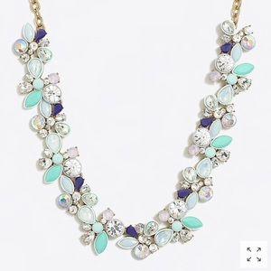 NWT J.Crew Blue, Mint, Pink, & Diamond Necklace